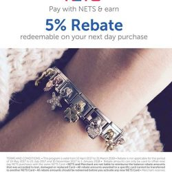 [Nomination Italy] With NETSPLUS, enjoy 5% rebates when you use your NETS card to make purchases at Nomination Italy.