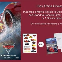 [Filmgarde Cineplex] McQueen and Friends are here again and we have lots more exciting official Cars 3 movie premiums to give away!