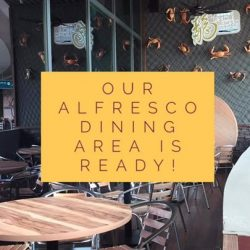 [Uncle Leong Signatures] Our Alfresco Dining Area is recently setup.