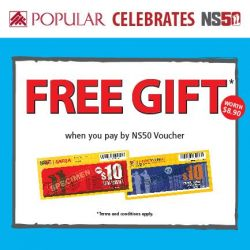[POPULAR Bookstore] In celebration of NS50, receive a FREE GIFT worth $8.