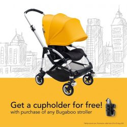 [Mothercare] Don't miss the chance to get a FREE cupholder when you purchase any Bugaboo strollers from now till 31