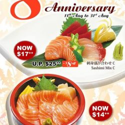 [Tampopo Grand] Celebrate our Takashimaya outlet's 8th Anniversary with us and enjoy special priced* Sashimi Mix & Salmon Chirashi Don from now