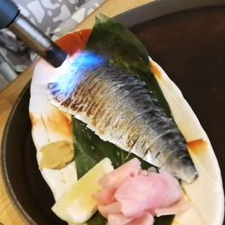 "[Sandaime Bunji] Taste so YUMMY and you can enjoy entertainment on your table😁😁 ""Shimesaba"" will be good to enjoy as Sashimi but"