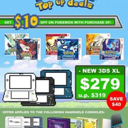 [GameMartz] Get $10 OFF on any Pokemon game for 3DS with purchase of New 3DS XL / 2DS XL Handheld Console.
