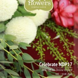 [Simply Flowers] It's August & in conjunction with our nation's Birthday, we will be offering 20% for all online orders.