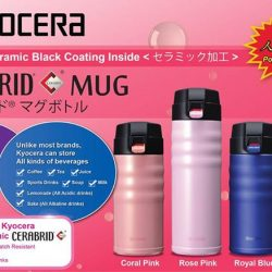 "[Isetan] The new Kyocera Advanced Ceramic ""Cerabrid"" Travel Mug stands out for its flavour-saving ceramic coated interior, which does not"