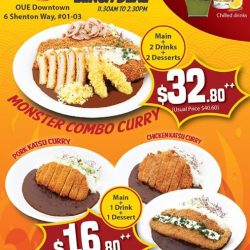 [Monster Curry] BEST Signature Lunch Deal is now happening exclusively Monster Curry's first-ever NEWEST outlet within CBD district!