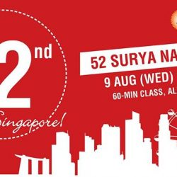 [Platinum Yoga] Joining in on the National Day celebrations, we will be having a special 52 Surya Namaskar class on 9th August
