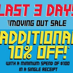 [World of Sports] There's no sadness in our separation because we are bringing you our MOVING OUT SALE, UP TO 70% OFF!