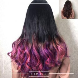 [Kimage Prestige] Purple pink ombre by Masako from Kimage Tiong Bahru.