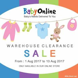 [BabyOnline] Checkout and visit our website for warehouse clearance sales from 1 Aug 2017 to 13 Aug 2017