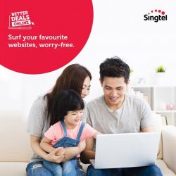 [Singtel] Provide your family with a safe online environment to learn, play and explore.