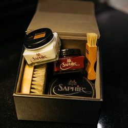 [Saphir] Our beginner Shoe Shine Kit - arguably everything you will ever to start restoring your old shoes, or taking care of