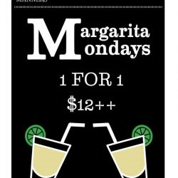 [Table Manners] MARGARITA MONDAYSSay no to Monday blues with our 1 for 1 margarita promo!