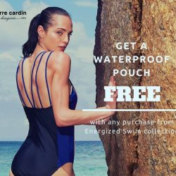 [Pierre Cardin] Get a free waterproof pouch with any swimwear purchased from the recently launched Energized Swim collection!