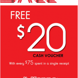 [Kappa] Shop now and get $20 CASH VOUCHER for every $75 spend in Kappa stores!