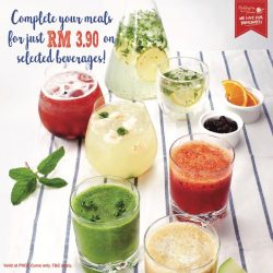 [Paddington House of Pancakes] A beverage does more than just quench your thirst, it completes your meal!