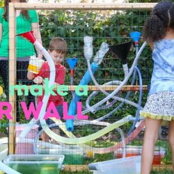 [GYMBOREE PLAY & MUSIC] A DIY water wall is a great outdoor activity for kids!