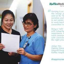 [Raffles Japanese Clinic] Jaslyn was first inspired to take up nursing during her younger days when she saw how nurses cared for her