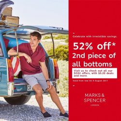 [Marks & Spencer] From today until 9 August 2017, enjoy 52% off 2nd piece bottoms for everyone!