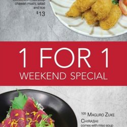 [Three by Table Concept at Foodfare] Enjoy these 1 for 1 deals on weekends!