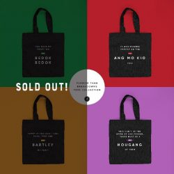 [MONOYONO] You folks got our heart like 💛'bedok bedok'💛 because 2 designs of the punny tote bags have been sold out
