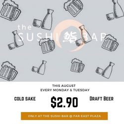 [The Sushi Bar Dining] Last day of beer and sake promo $2.