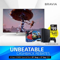 [Sony Singapore] What's a better deal than cashback promotion of up to S$5,000 for BRAVIA TVs at COMEX and