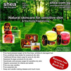 [Shea] Shea will be there with a special product range and the food offerings will blow your mind