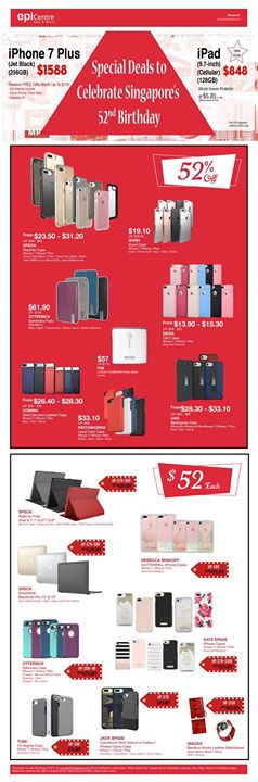 [EpiCentre Singapore] Celebrate Singapore 52nd Birthday with these Special Deals!