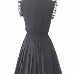 [Que Sera] Girly chiffon dress with a knife pleat skirt.