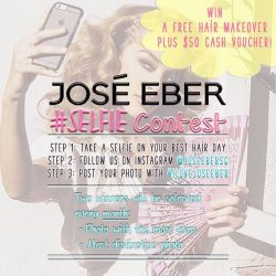 [Jose Eber] Stand a chance to WIN a FREE hair makeover AND a $50 cash voucher by just following us on Instagram