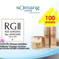 [SOMANG BY CHRYSALIS] Hi sOmang fans, we are back to giveaway 100 RGII (Red Ginseng) Skin Care Set worth S$99 + Chrysalis Woman
