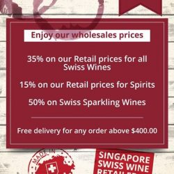 [Wine Universe Restaurant & Wine Bar] Join us at Paragon, massive Swiss Wines Sales until 13th of August.