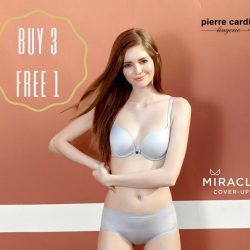 [Pierre Cardin] Awesome news this mid-week: Buy any 3 pieces in Miracle Collection and get 1 free!