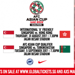 [Premier Football Singapore] Receive FREE tickets to Singapore vs Hong Kong AND Singapore vs Turkmenistan with every purchase of a Singapore jersey!