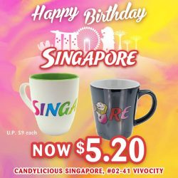 [Candylicious] Let's toast to a wonderful future for Singapore with our classy Candylicious Singapore Merlion Mug!