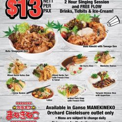 [Manekineko Karaoke Singapore] Have a musical lunch in MANEKINEKO every weekday from 11am - 2pm 🍽️Check-in Lunch session at selected outlet and enjoy