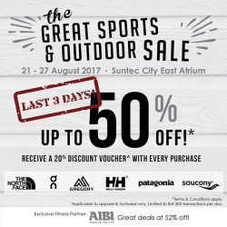 [LIV ACTIV] The Great Sports & Outdoor Sale is down to its last 3 days!