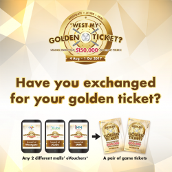 [IMM] Check your CapitaStar Wallet (located at the top left corner of your CapitaStar app) right now as the Golden Ticket