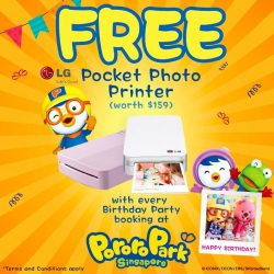 [Pornro Park Singapore] Let's celebrate a memorable birthday party for your little one with Pororo & Friends.