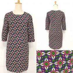 [Que Sera] Retrolicious mod shift dress with the jazziest print!