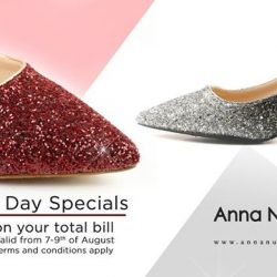 [Anna Nucci] Jolt your Monday blues away with our electrifying kitten heels in Red and Silver – just in time for the National