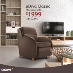 [OSIM] The uDiva Classic fits perfectly into any modern lifestyle.