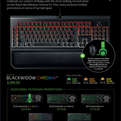 [Newstead Technologies] Be like the champion and get the latest Razer Chroma at Newstead!