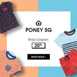 [PONEY enfants] Exclusive Promotion Store-wide 20% with FREE Shipping ONLY in Qoo10: Poney SG until tomorrow 11.