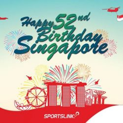 [AE BY SPORTSLINK AND 12TH MAN] We would like to take this chance to wish Singapore, Happy National Day!