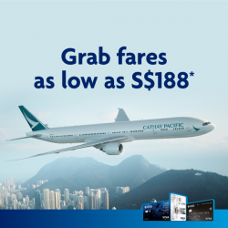 [UOB ATM] Grab Cathay Pacific fares to over 50 destinations from just S$188*!