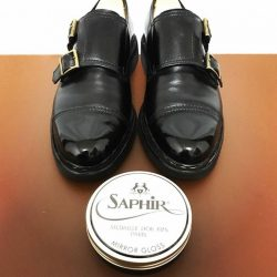 [Saphir] A little bit of polishing can greatly enhance the look of your outfit.