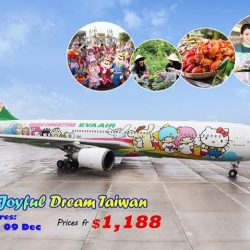 [WTS TRAVEL] Fly to Taiwan with EVA Air Hello Kitty Chartered this holidays!